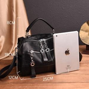 Image 3 - 2019 Luxury Soft Leather Handbags Women Bags Designer Girls Small Flap Bags Retro Crossbody Bag for Women Multifunction Bag Sac