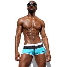 Мужские плавающие плавки, сексуальные нейлоновые сетчатые шорты высокого качества, пляжная одежда для плавания, Мужской купальный костюм д...