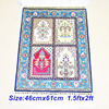 Mingxin 1 5x2ft Gremotry Carpet Turkish Silk Hand Weave Wall Carpets Handmade Silk Persian Rugs Area