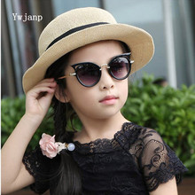 Ywjanp Children Sunglasses Boys Girls Cute Cat Eye Sun Glass