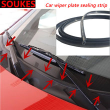 1.7M Car Wiper Windshield Panel Moulding Seal Strip For BMW E46 E39 E90 E60 E36 F30 F10 E34 X5 E53 E30 F20 E92 E87 M3 M4 M5 X6 3(China)