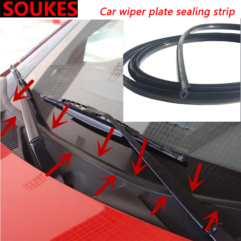 1.7M Car Wiper Windshield Panel Moulding Seal Strip For BMW E46 E39 E90 E60 E36 F30 F10 E34 X5 E53 E30 F20 E92 E87 M3 M4 M5 X6 3 image