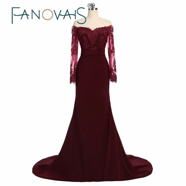 Aliexpress.com : Buy Sexy Burgundy Sheath Bridesmaid Dresses V Neck Long  Sleeve Bridesmaid Gowns Women Luxury Dress For Formal Party Maid of honor  ...