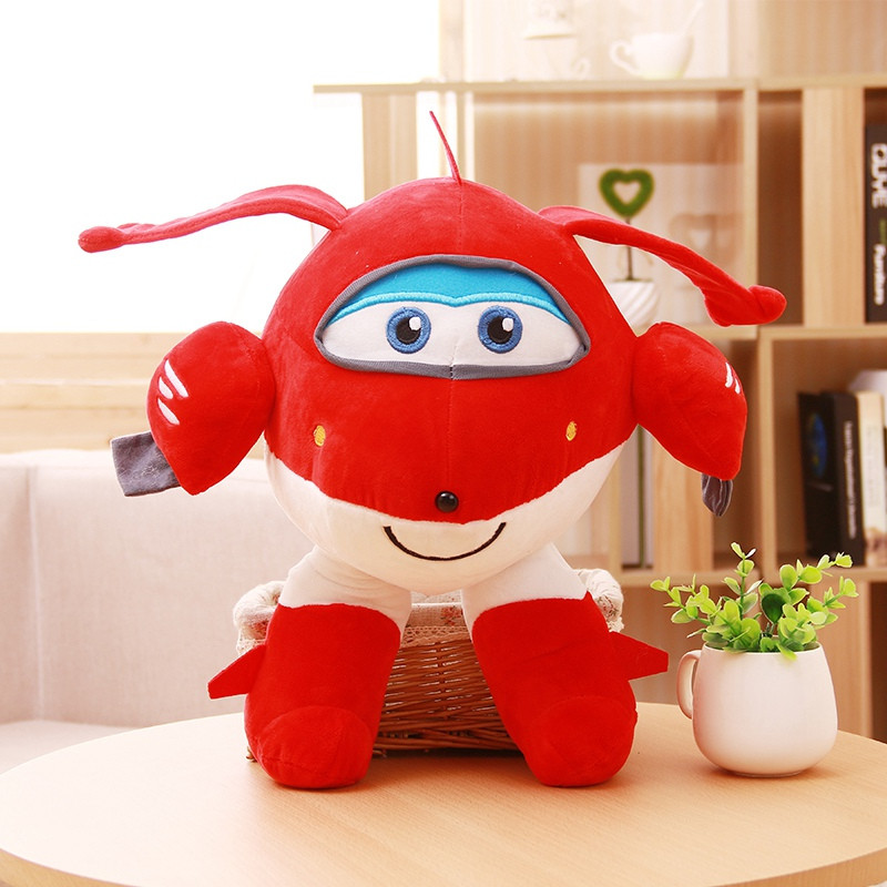 the cute plush toy Super wings Jett plush doll super flash pillow kidz birthday gifts party game play gift free shipping