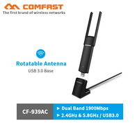 COMFAST 1900Mbps gigabit usb wifi adapter 802.11ac Dual Band wireless Gaming Network Card with USB3.0 base 1.5M extension cable