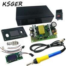 KSGER V2.1S STM32 Edycja T12 OLED Inteligentne Elektryczne Żelaza Temperatury Pokrywa Przypadku Zasilania 110-240 v 72 W
