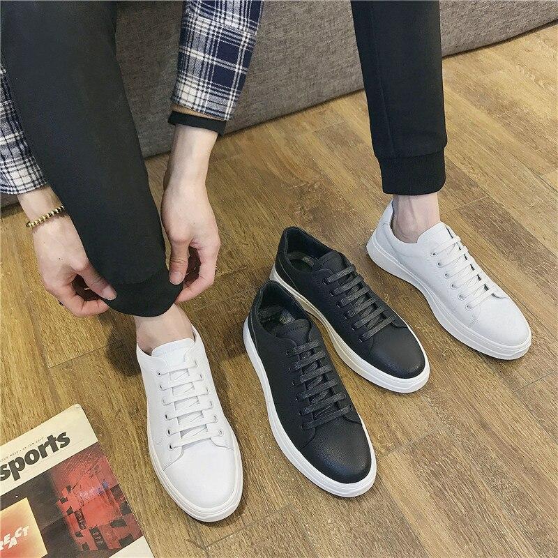 Masculinos Sneaker Leve De Plana Lace Calçado Fundo Up Vulcanizados Esporte Macio Aa51684 Casual Homens Sapatos Preto Masculino Verão branco 1HPnqvI0w