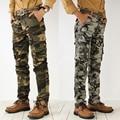 Vinda nova Calças Dos Homens de Estilo da Camuflagem Do Exército Impressão 2 Opções de Cores Com Zíper Médio Cintura Lavado Capris Masculinas MG95