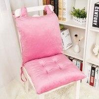 Siamese Plush Chair Cover Seat Cushion Pillow Pink Purple Blue Cartoon Chair Cushion Child Student Computer Chair Cushion