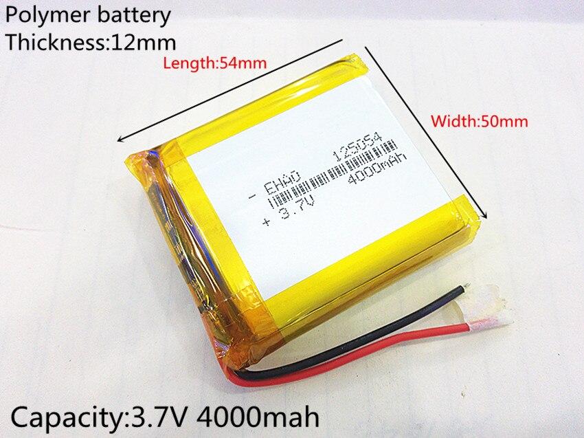 3,7 V 4000 Mah 125054 Lithium-polymer Batterie Mp3 Mp4 Navigation Instrumente Kleine Spielzeug Und Andere Produkte Universal Batterie