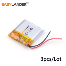 3pcs /Lot 3.7v lithium Li ion polymer rechargeable battery 352525 160mah  MP3 MP4 MP5 small toys GPS