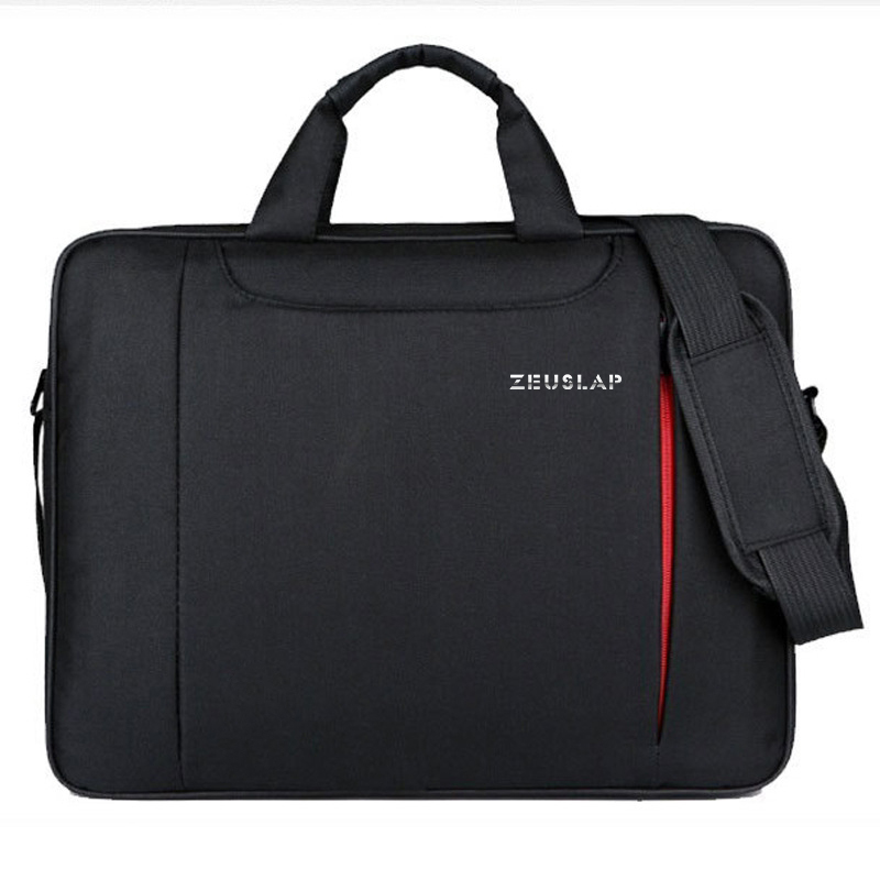 ZEUSLAP Laptop Shoulder Bag 11 12 13.3 14.1 15.4 15.6 Waterproof Nylon Ergonomic Messenger Hand Bag For Dell 14 15.6 Laptop Bag