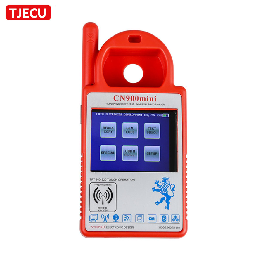 TJECU CN900 Mini Transponder Key Programmer Firmware Version V1 32 2 19 for 4C 46 4D