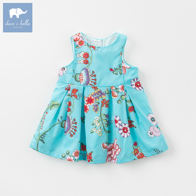 Dave bella summer baby girls Princess Party Wedding dress children floral sleeveless dresses toddler infant clothes DBA6581 luoyamy baby girls summer birthday party dress wedding princess petal vest dresses children toddler infant clothes