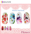 Water Transfer Nail Decals, colorful Flower Designs Watermark Nail Art Stickers Tattoos Decorations Tools For Polish