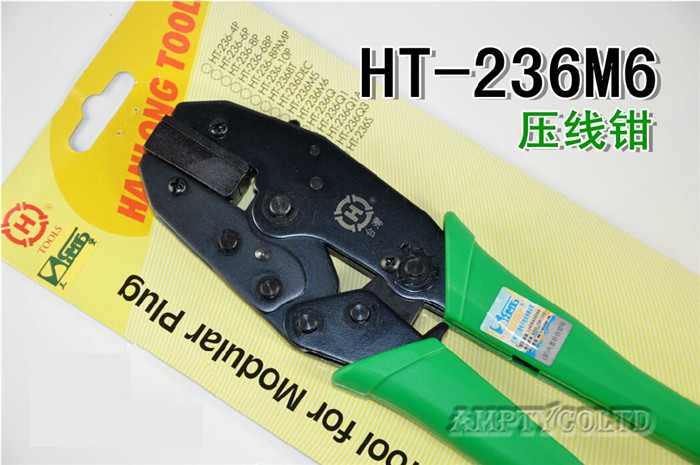 Outils de HT-236M6 avec trois pinces à câble ethernet