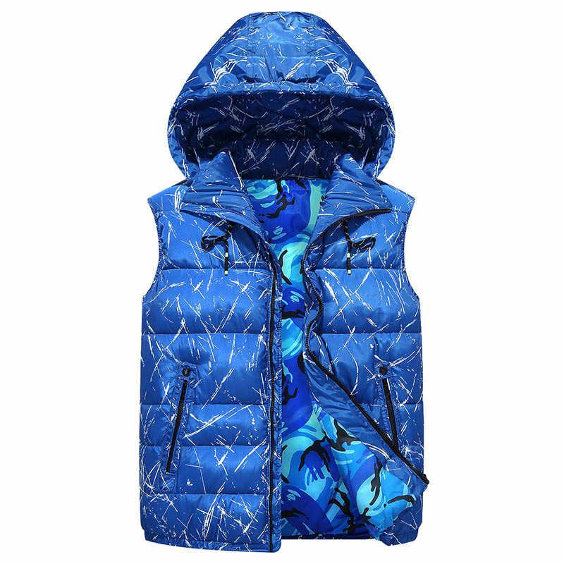 4XL-10XL Plus Größe 2019 Winter Warme Baumwolle Weste Männer Hoodies Ärmellose Jacke Casual Fashion Slim Fit Arbeit Weste Weste 3ZWJ13