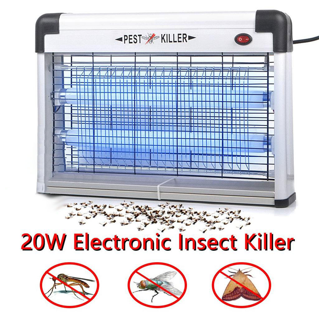 Electronic Indoor Outdoor  Insect Mosquito Fly Killer Bug UV Lamp Zapper Control Night Lamp Lights Lighting