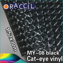 High Quality 1.52x30m adhesive vinyl roll cat eye film car wrap sticker
