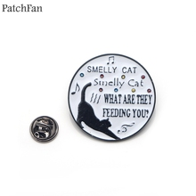 Patchfan friends tv show Black cat letter cartoon funny Zinc Pins backpack clothes brooches for men women hat badges medal A1510