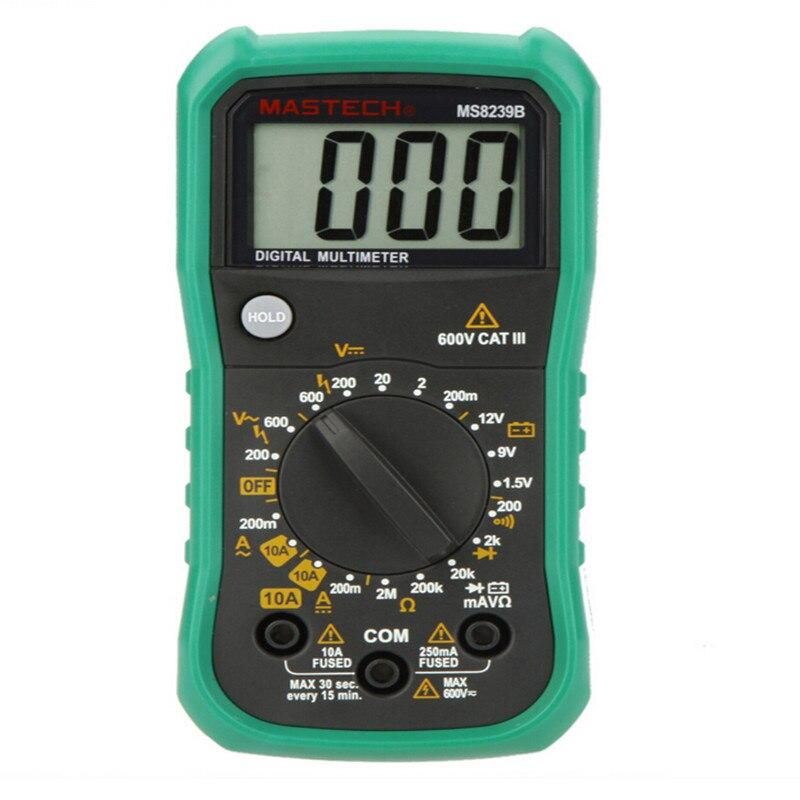 MASTECH MS8239B Mini Digital Multimeter DMM Ammeter Voltmeter Ohmmeter w/ Battery Test Tester Meter  цены