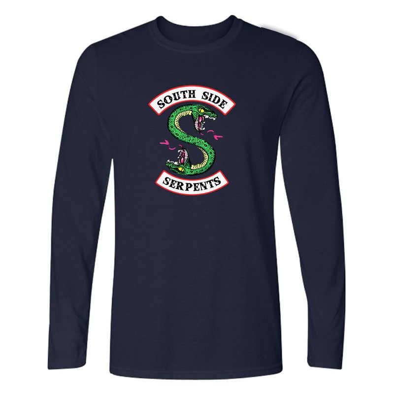 New Fashion Southside Riverdale T Shirt Women Long Sleeve Funny Tshirt Plus Size Cotton Tops Tee Shirt Femme Poleras Mujer 4XL