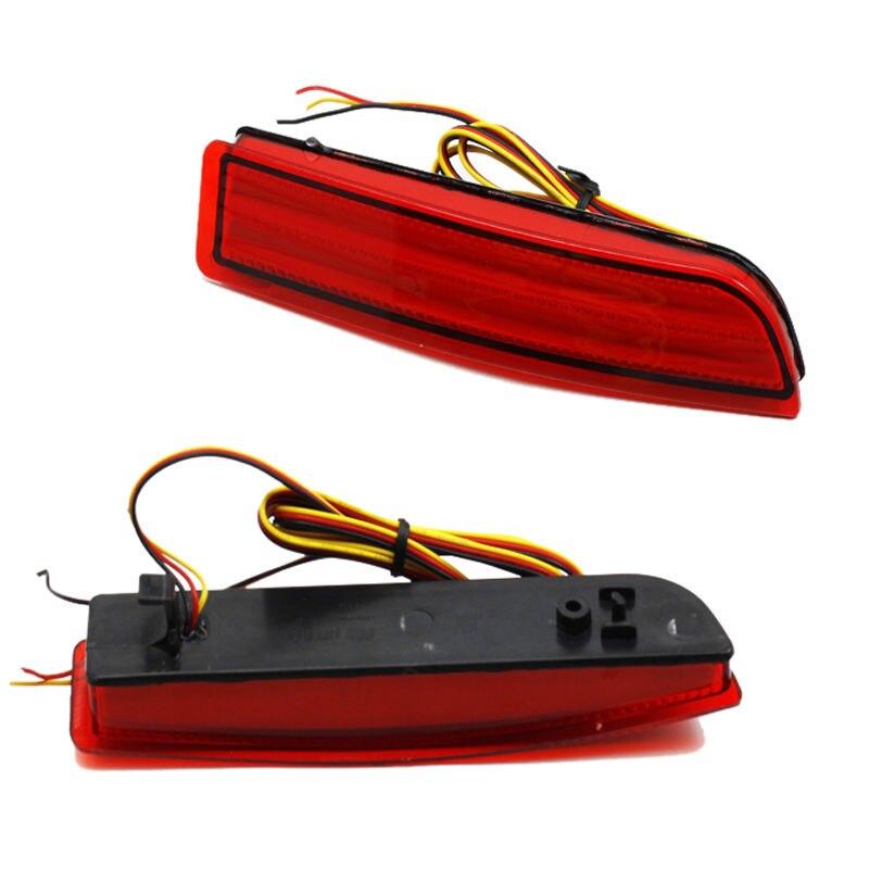 2X Für Toyota RAV4 08-14 Scion Previa Alphard Avensis Klare Linse LED Stoßstange Hinten Reflektor Brems Schwanz Licht