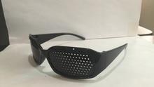 Hot Black Unisex Vision Care Pin hole Eyeglasses pinhole Glasses Eye Exercise Eyesight Improve Plastic Natural Healing Free Ship