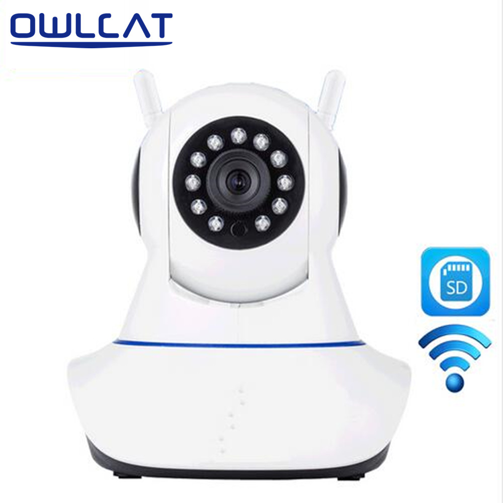 OwlCat HD 720P WIFI IP Camera Wireless Home Security CCTV Surveillance Camera Infrared Night Vision Two Way Audio Baby Monitor sacam home security surveillance day night wifi ip camera hd 720p wireless webcam cctv cameras two way audio wide angle