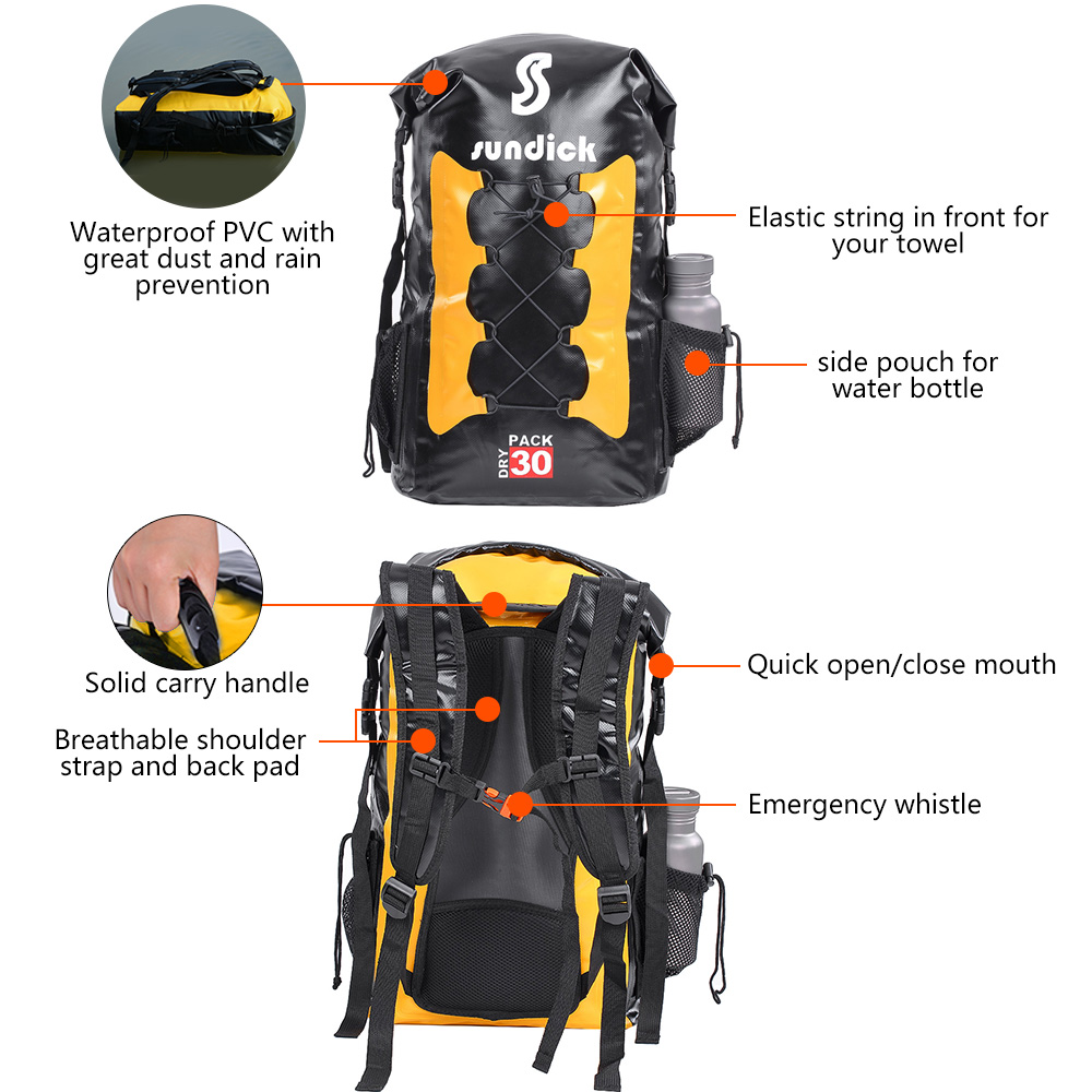 708651cb638 30L Foldable Outdoor Backpack Waterproof Folding Climbing Rucksack Man  Woman Travel Hiking Camping Daypack Drafting Floating Bag-in Climbing Bags  from ...