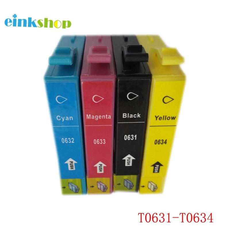 1Set T0631 - T0634 მელნის კარტრიჯი Epson Stylus C67 C87 CX4100 CX4700 CX3700 C87PE for epson t0631