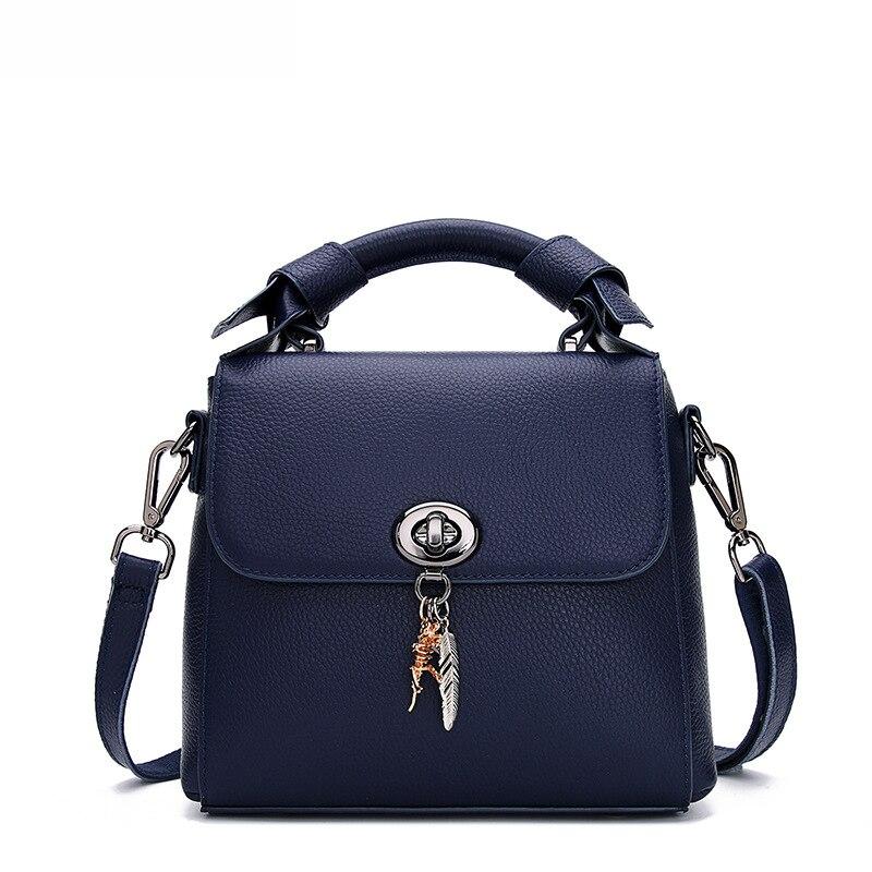 цена на LOEIL New leather handbags fashion cover bag small bag top layer leather shoulder shoulder diagonal package