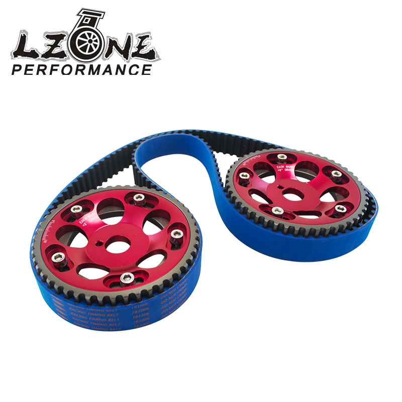 LZONE RACING - HNBR Racing Timing Belt BLUE + Aluminum Cam Gear Red FOR 2JZ-GE and 2JZ-GTE Supra, GS300, IS300 JR-TB1006B+6531R supra is 2602c