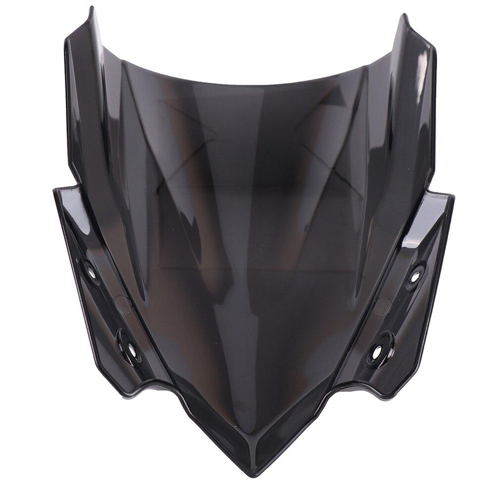 KEMiMOTO For Kawasaki Z650 2017 Windscreen Windshields For Kawasaki Z 650 2017 Flyscreen Smoke Black Fairing Cover protection