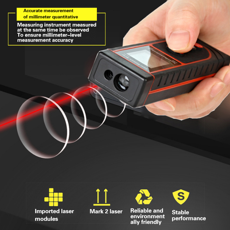 New laser range finder high precision electronic ruler infrared measuring instrument measuring 40 meters