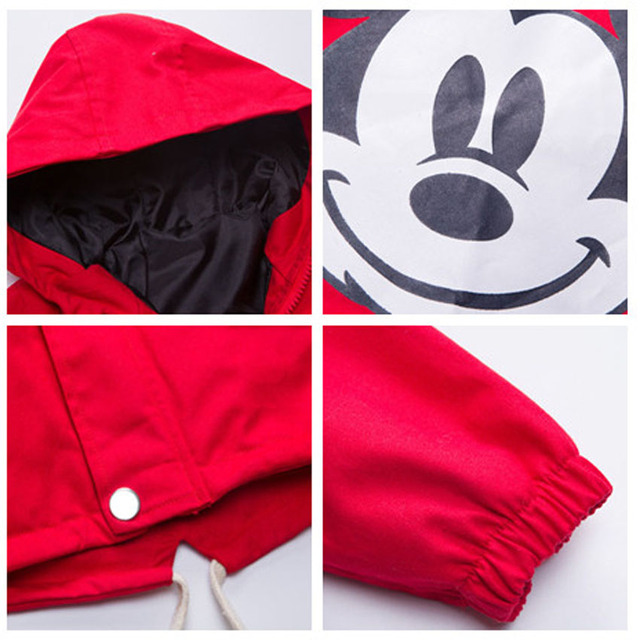 ZJHT New Spring Toddler Mickey Jackets For Boys Girls Clothes Children Hooded Coats Baby Bomber Windbreaker Kids Outerwear MY051
