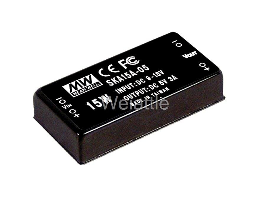 цена на [Cheneng]MEAN WELL original SKA15C-05 5V 3000mA meanwell SKA15 5V 15W DC-DC Regulated Single Output Converter