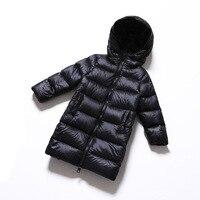 Осень зима Высокое качество детское ветрозащитное пальто для маленьких девочек Одежда для мальчиков пуховая куртка для малышей