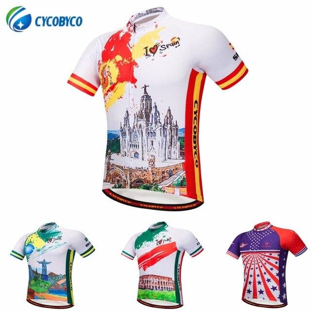 Cycobyco Reflexivo Dos Homens camisa de Ciclismo Manga Curta d4a25169597d3