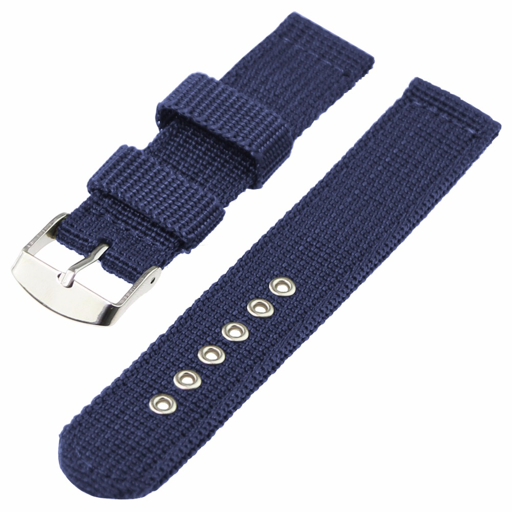 ZLIMSN Watch Band Strap Nylon Mesh Watchbands Women Men Sport Watches Belt Accessories Relojes Hombre 2018 20mm 22mm 24mm Soft in Watchbands from Watches