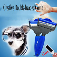 Dog Stainless Steel Needle Brush Professional Nail Rake Comb Cat Hair Knife Grooming Massage Tools Chien Pet Supplies 70Z1329