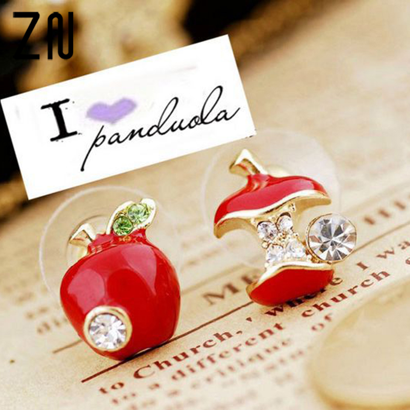 US $0.27 35% OFF ZN Hot sale Fashion lovely red drops of glaze asymmetric apple crystal stud earrings for women Cheap Jewelry-in Stud Earrings from Jewelry & Accessories on Aliexpress.com   Alibaba Group