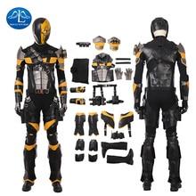 New Deathstroke Cosplay Costume Men Full Set Slade Joseph Wilson Cosplay Costume Halloween Costumes For Men Custom Made цена 2017