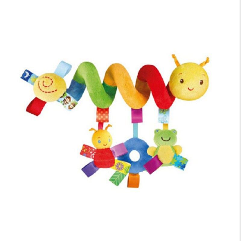 רוסית ואנגלית סגנון תינוקת התינוק צעצועים מוסיקלי עריסה Mobiles ילדים צעצוע מחרטה תלוי רעשנים חינוך מוקדם עגלת בובות