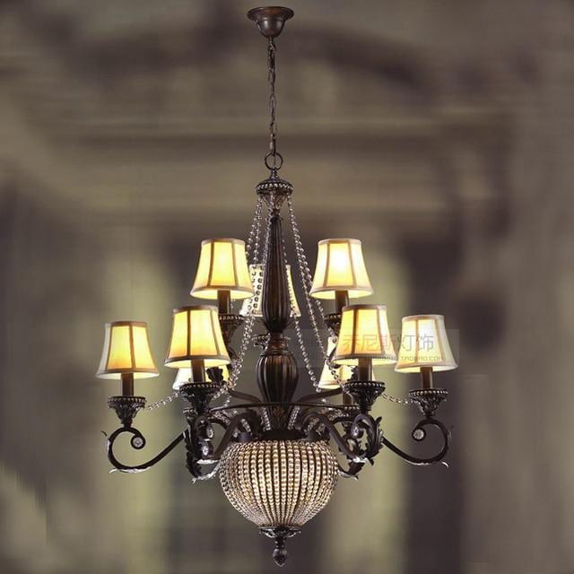 Sala da pranzo lampada Retrò vintage Nero rustico ferro Lampadario ...