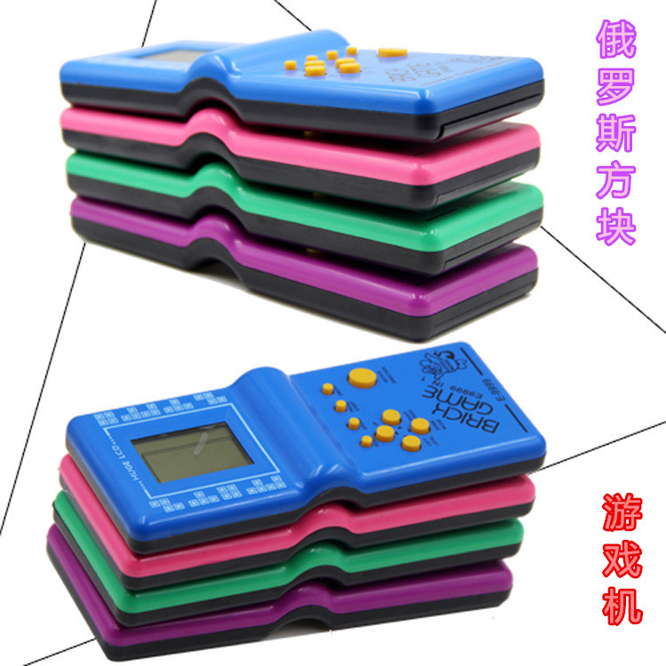 Купить с кэшбэком Children Toys Classic Handheld Game Machine Tetris Brick Game Kids Game Machine with Game Music Playback 1pc