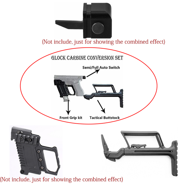 Carbine Glock Conversion Stability Handle Tactical Support Buttstock to Carbine for Glock G17/G18/G19 Hunting Gun Accessories
