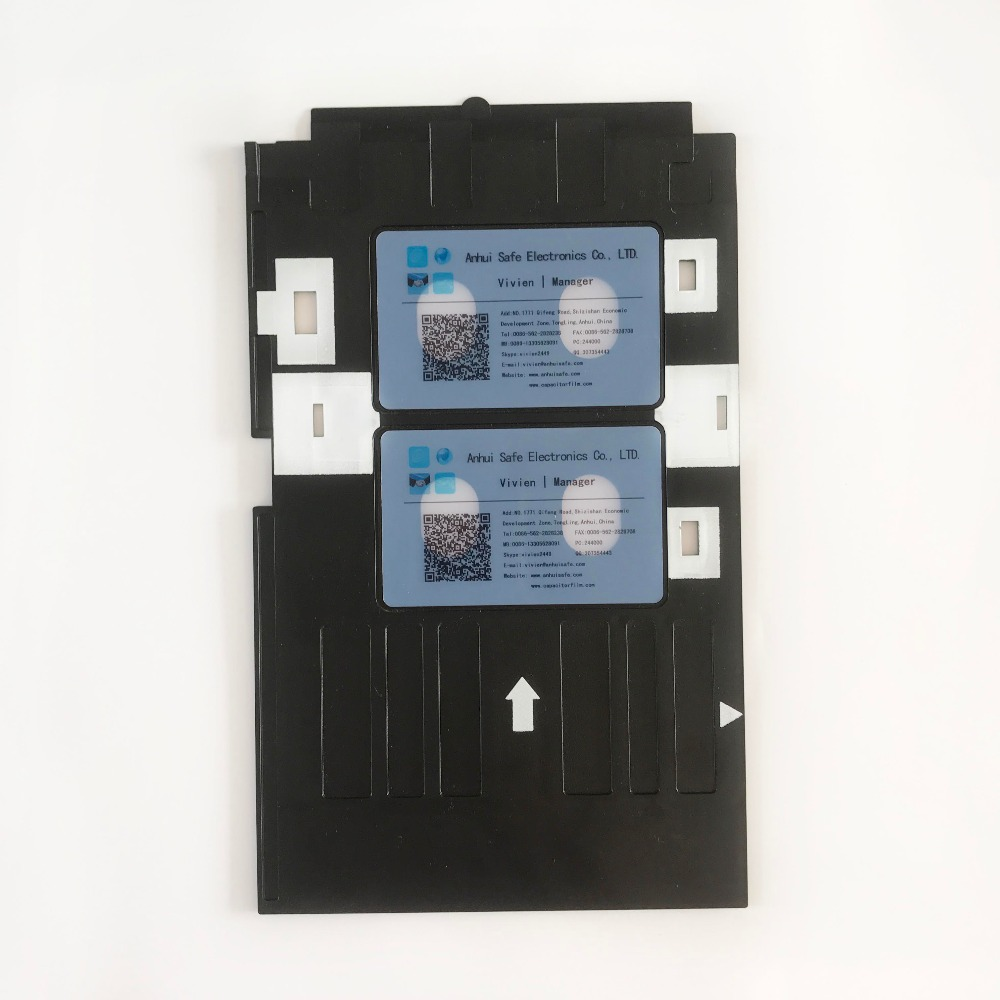 Trend Mark 50pcs/lot Blank Glossy Transparent Plastic Inkjat Pvc Id Card Inkjet Printable Card+1pc Id Card Tray For Epson L800,t50,t60,l805 Refreshment Office & School Supplies