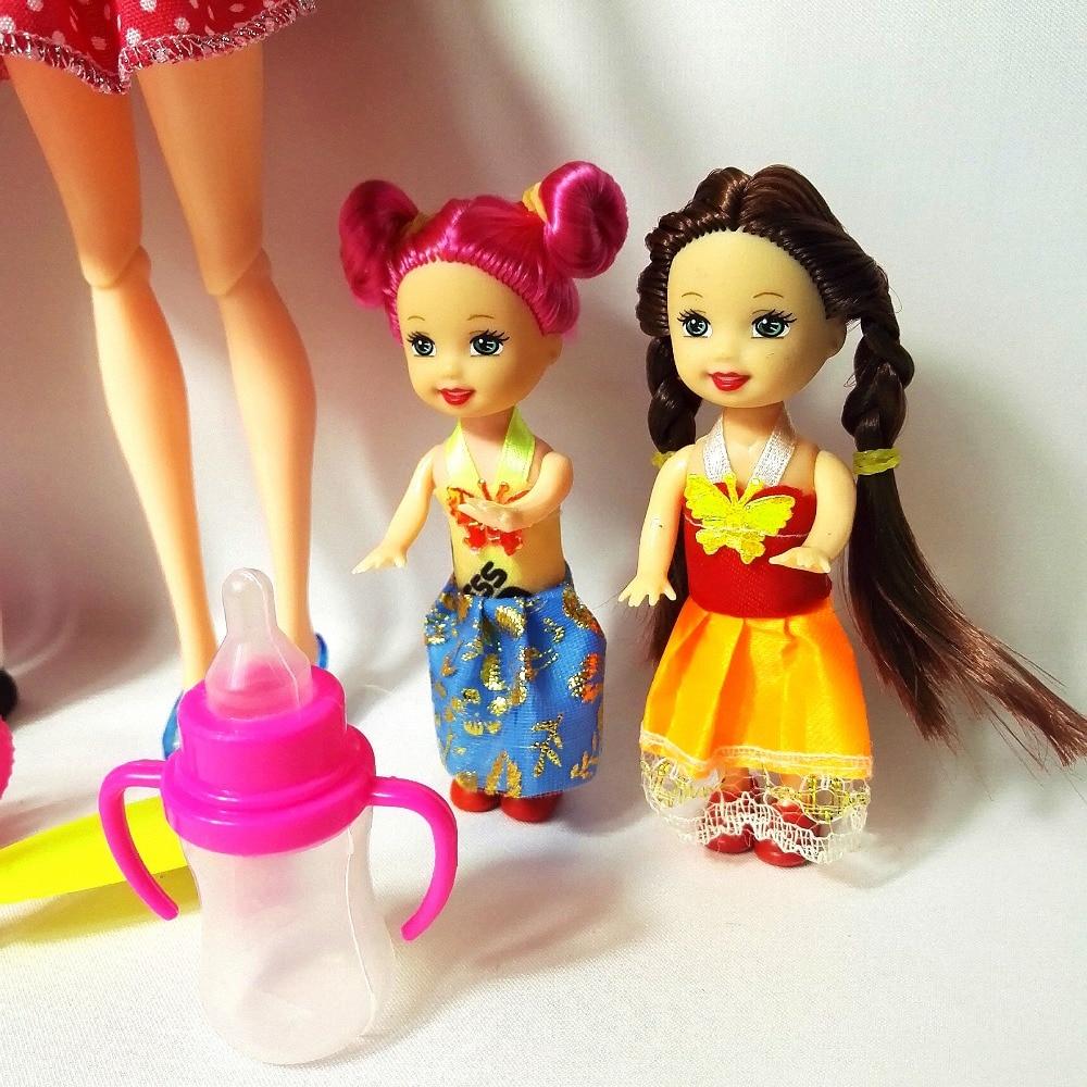 Mainan Fesyen Keluarga 4 Orang Dolls Suit 1 Ibu / 1 Ayah / 2 Little - Anak patung dan aksesori - Foto 3