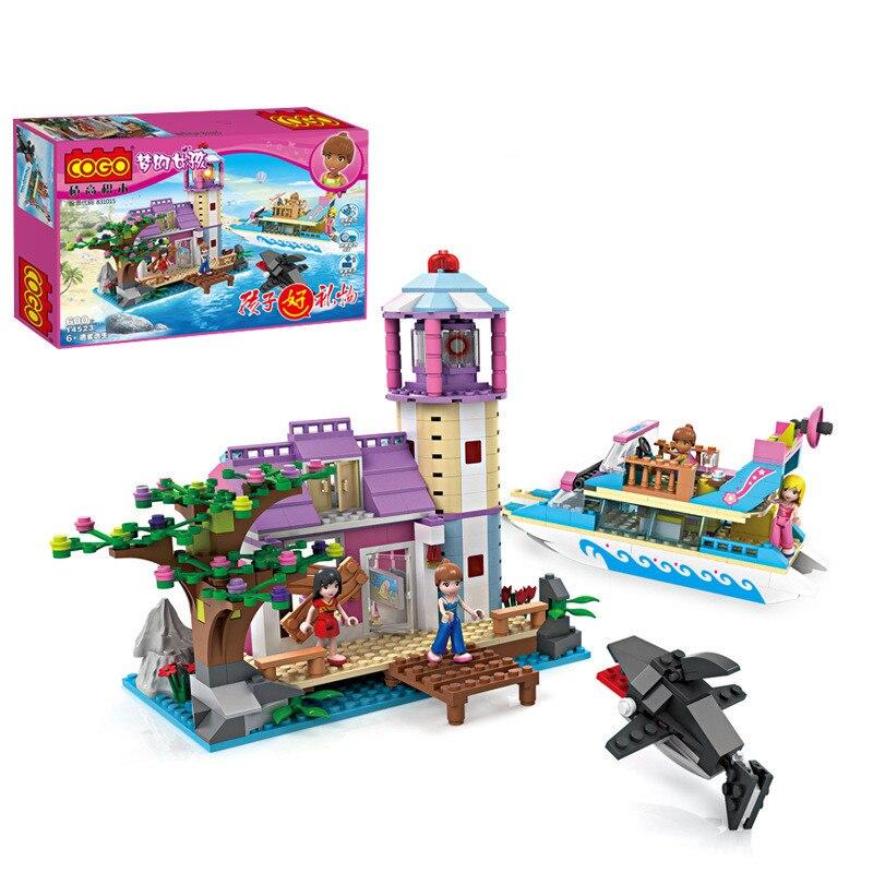 600 pièces rêve fille ami mer requin évasion Cogo bloc de construction brique jouet 14523